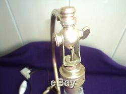 Foot Lamp Bronze Tulip Galle Daum Muller Art Deco / New Pate Glass