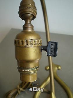 Foot Lamp Bryant USA 1907 Art Nouveau Bronze Dore Liberty Jugenstil Deco 1900