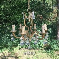 Former Chandelier Bronze Pendeloque, Art Deco Vintage (2)