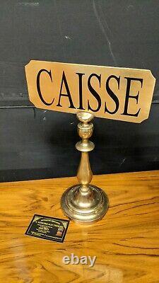 Former Panneau De Comptoir Store Caisse In Brass Bar Craft Plate Teaches
