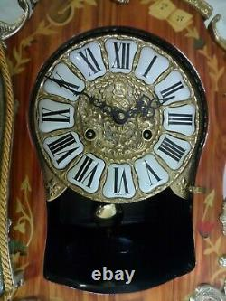 - Franz Hermle Bronze Pendule Wood Bel Rose State Works Perfectly