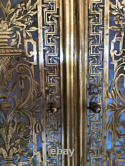 Front Of Fireplace Firewall Art Deco Brass / Openwork Bronze 69x75 / Façade