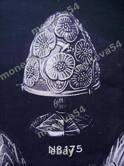G & L Verdun Art Deco Lamp In Nickeled Bronze And Obus Glass Pressed 1930