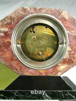Georges Lavroff Rare Pendulum Art Deco Sculpture Biche Bronze Silver No Chiparus