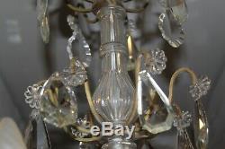 Grand Old Chandelier Baccarat Crystal Chandelier And Bronze, 6 Lights H 88 CM