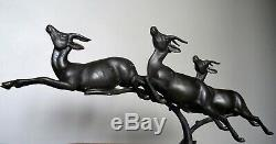 Group Of Antelopes Racing Regulates Large Marble On 1930