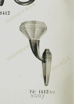 H. Fournet And Schneider Applique Art Deco Bronze And Coupelle Pressed Glass