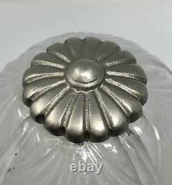 Hettier - Vincent Bronze Bronze Bronze Deco Lamp Nickeled, Baccarat Crystal Tulip