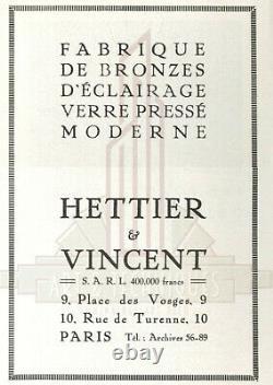 Hettier & Vincent Muller Brothers Lustre Art Deco Bronze And Graved Tulips