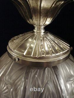 Hettier - Vincent Platfonnier Art Deco Silver Bronze And Pressed Glass Ball
