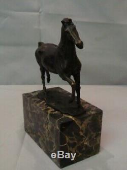 Horse Statue Animal Style Art Deco Art Nouveau Bronze Massive