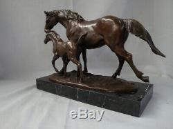 Horse Statue Style Art Deco Art Nouveau Bronze Massive Sign