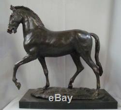 Horse Statue Style Art Deco Style Art Nouveau Solid Bronze Sign