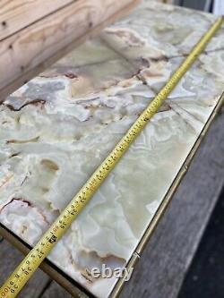 House Rings Table Basse Bronze Bamboo Charles 1950 Onyx Design Art Deco