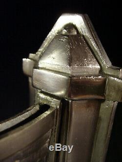 J. Gauthier Dappliques Pair Art Deco Bronze And Glass Nickel Pressed 1930