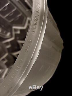 Jamain & Hanots Ceiling Light Art Deco Bronze Nickel And Glass Shells Pressed