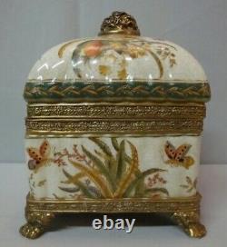 Jewelry Box Butterfly Style Art Deco Style Art Nouveau Porcelaine Bronze