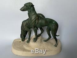 Jules Edmond Masson Old Greyhound Group Metal Bronze Max Le Verrier Art Deco