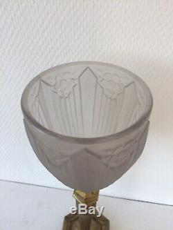 Lamp Art Deco Bronze Tulip Sonover