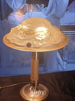 Lamp Art Deco Lamp Art New Glass Molded (bronze Or Brass)