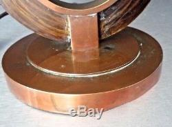 Lamp Art Deco Modernist Adnet, Djo Bourgeois, Frank Desny Copper Bronze, Patinated