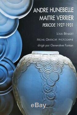 Lamp Art Deco Silver Bronze Glass André Hunebelle Model Chrysanthemum 1930