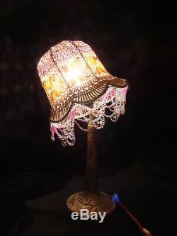 Lamp Art Deco Somewhat Dated, Bronze Silver Base
