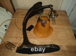 Lamp Pied Bronze Art Nouveau/deco Galle Daum Muller Majorelle 1900 Guimard