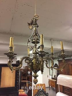 Louis XIV Style Bronze Chandelier