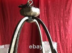 Lustre Art Deco Bronze Armature Silver Age 1930