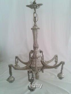 Lustre Art Deco Bronze Nickeled 1925 Without Tulip