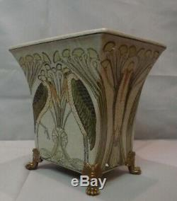 Marabou Bird Vase Style Art Deco Art Nouveau Porcelain Bronze