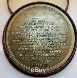 Masonic Medal Art Deco Woman Raoul Bénard Insurance Providence Medal