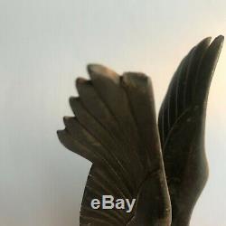 Max Le Verrier An Eagle Bronze Silver Art Deco Mascot Car