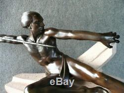 Max Le Verrier Monumental Sculpture The Ambush Art Deco 1930