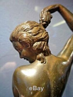 Max Le Verrier-denis-bronze Art Deco-dancer Vintage-becquerel-chiparus-guyot