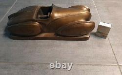 Modernist Bronze Sculpture Art Deco Design Packard Aquarius 1934