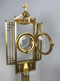 Monstrance Montagnier Montranse Gilt Bronze And Vermeil Vintage Art Deco