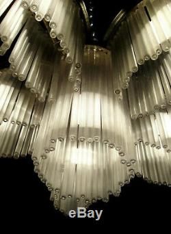 Mr. G. Boretti Art Deco Chandeliers Cataloged Bronze And Crystal Sticks 1930