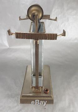 Muller Freres Luneville & Rare Vasseur Table Lamp Art Deco Glass Bronze 1920