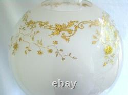 Oil Lamp Napoleon III Corinthian Cristal Baccarat, Bronze, And Marble