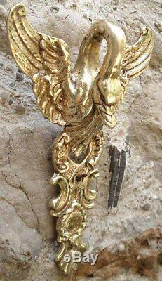 Old Corniche Architectural Gooseneck In Empire Style Bronze