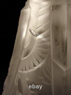 P. Maynadier Wall Art Deco Bronze Nickel & Glass Pressed Tulip 1930