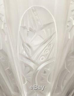 Pair Of Art Deco Lamps Range Of Glass Nickel Bronze Frontisi 1930