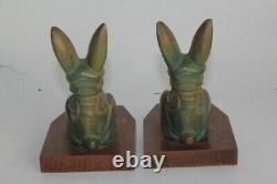 Pair Of Bronze Clasps Rabbit Hippolyte Moreau (52407)
