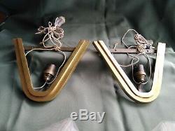 Pair Of Bronze Petitot Glass Dlg Robert Muller Etc.