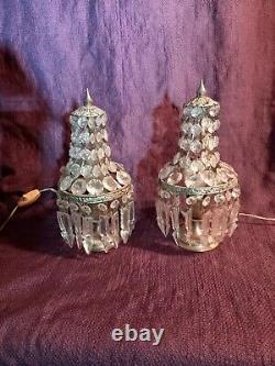 Pair Of Girandole Lamps With Balloon Balloon Mounted Silver Bronze
