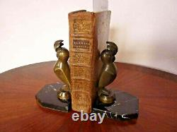 Pair Of Greenhouse Bronze Book Signed G. H. Laurent