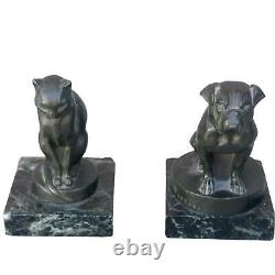 Pair Of Greenhouse Pounds Dog And Cat Art Deco Leverrier