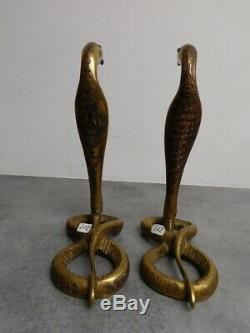 Pair Of Legs Lamp Art Deco Bronze Serpent